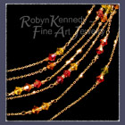 14 Karat Yellow Gold and Austrian Crystal 'Autumn Sparkler' Necklace image