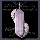 Sterling Silver and Crystal Quartz 'Feather' Pendant Image