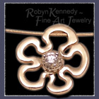 18 Karat Yellow and White Gold and Diamond 'Flower Power' Slider Pendant Image