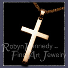 14 Karat Yellow Gold 'Norm's Cross' Image