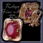 18 Karat Yellow Gold and Ruby Earrings