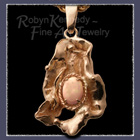 14 & 10 Karat Gold Custom Watercast Pendant with an Opal Gemstone  Image