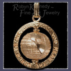 14 Karat Yellow Gold 'You Mean the World to Me' Pendant Images