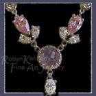 Platinum, 14 Karat White Gold, Chalcedony and Cubic Zirconia 'Delica'  Necklace Image