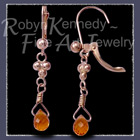 14 Karat Yellow Gold and Citrine Briolette Gemstone 'Enchanted' Citrine Earrings Image