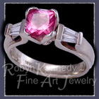 18 Karat White Gold, Mystic Pink Topaz and Diamonds 'Femme Fatale' Ring Image