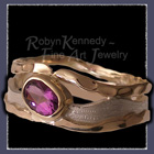 10 Karat Yellow Gold, Sterling Silver and Amethyst 'Purple Reigns' Ring Image