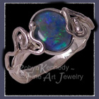 18 Karat White Gold and Opal, 'Rapture' One Of A Kind Ring Image