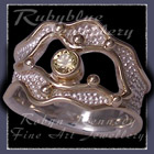 14 Karat Yellow Gold, Sterling Silve & genuine Yellow Sappire 'Sun~Kissed' Ring Image