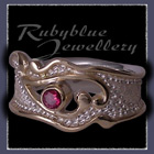 14 Karat Yellow Gold, Sterling Silver & Ruby 'Valentina' Ring Image