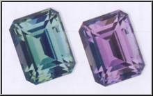 Color change in Alexandrite Gemstone Image